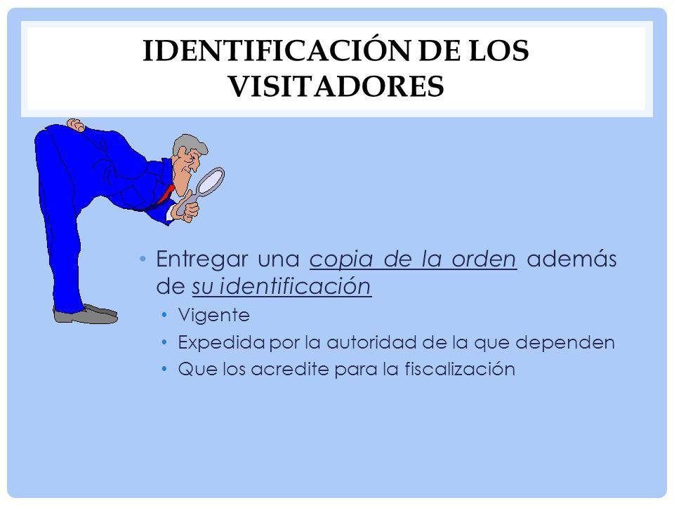 Identificación de los visitadores