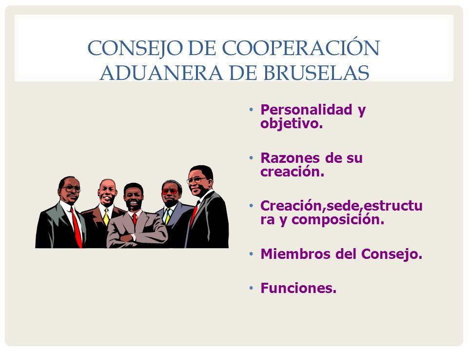 CONSEJO DE COOPERACIÓN ADUANERA DE BRUSELAS