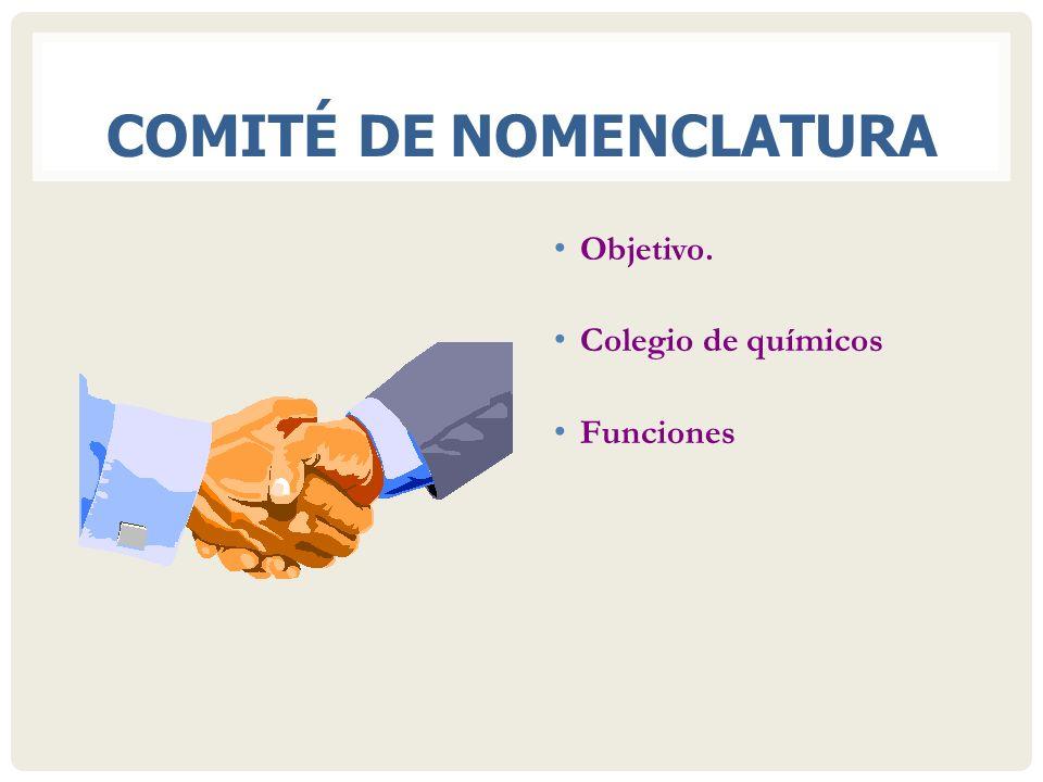 COMITÉ DE NOMENCLATURA