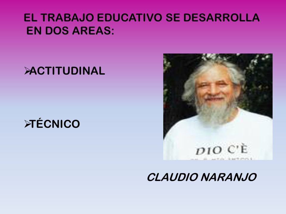 EL TRABAJO EDUCATIVO SE DESARROLLA