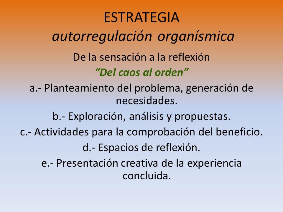 ESTRATEGIA autorregulación organísmica