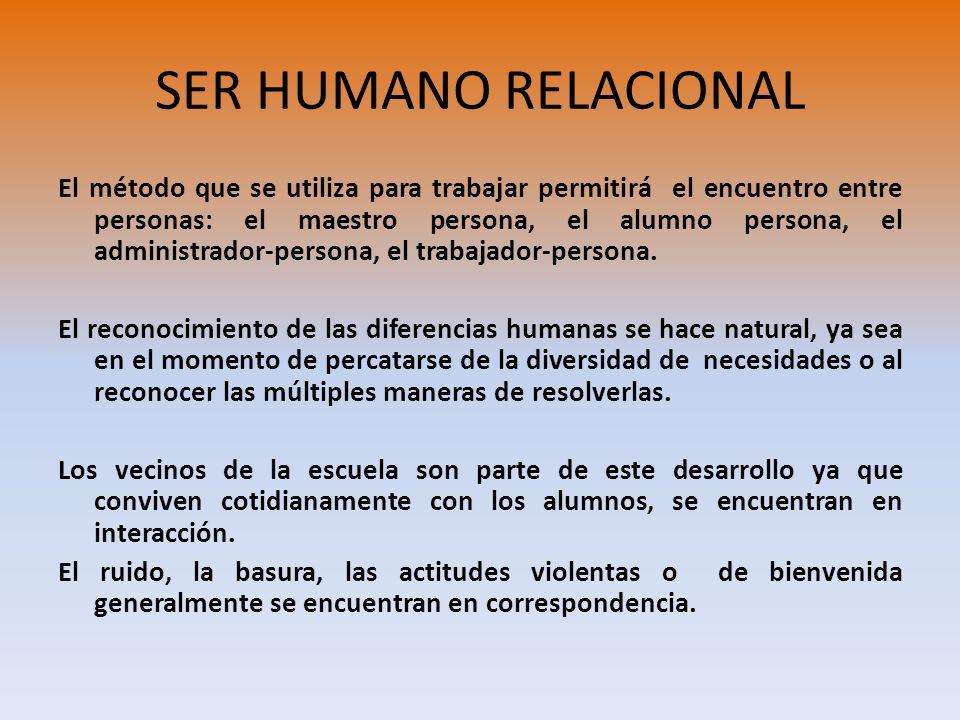SER HUMANO RELACIONAL