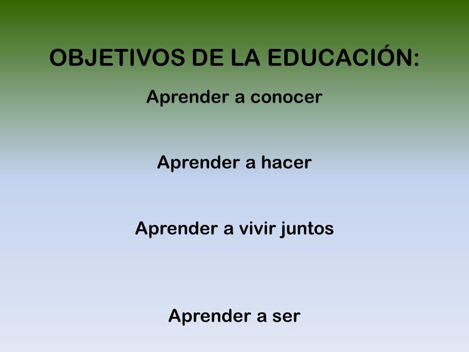 OBJETIVOS DE LA EDUCACIÓN:
