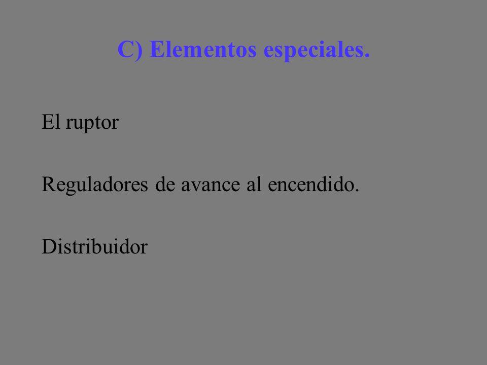 C) Elementos especiales.