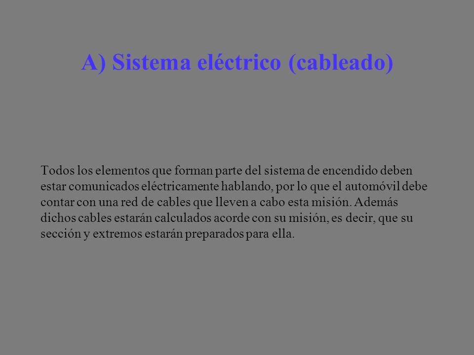 A) Sistema eléctrico (cableado)
