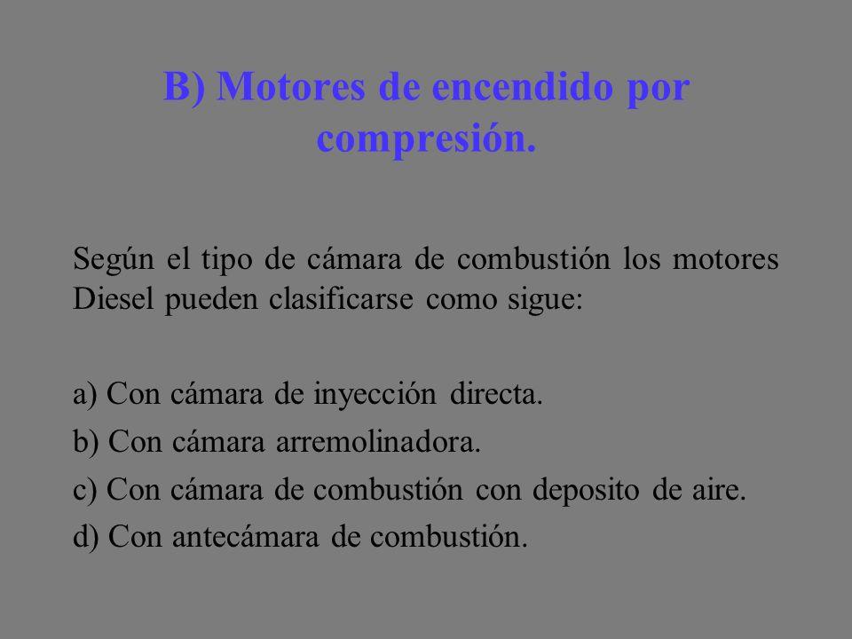 B) Motores de encendido por compresión.