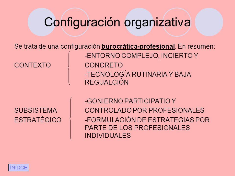 Configuración organizativa