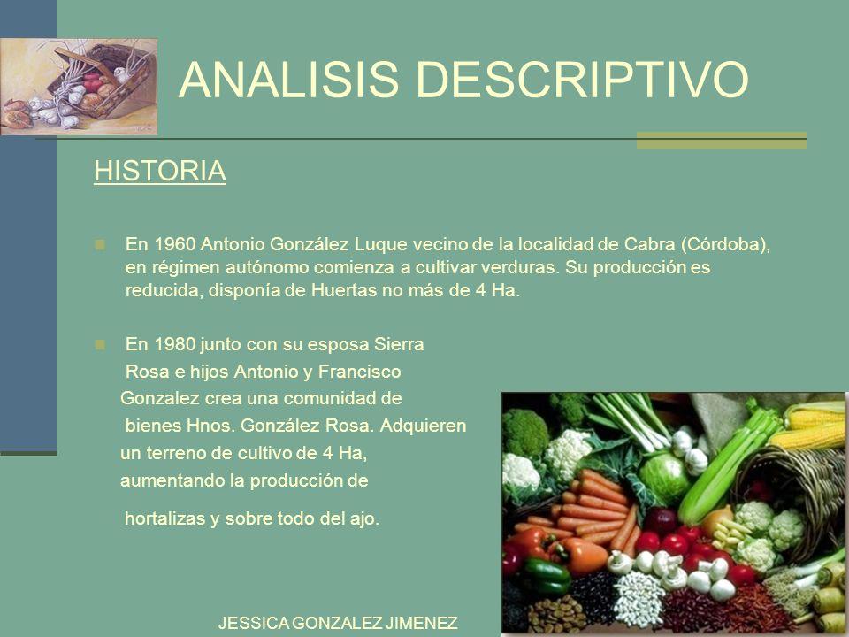 ANALISIS DESCRIPTIVO HISTORIA hortalizas y sobre todo del ajo.