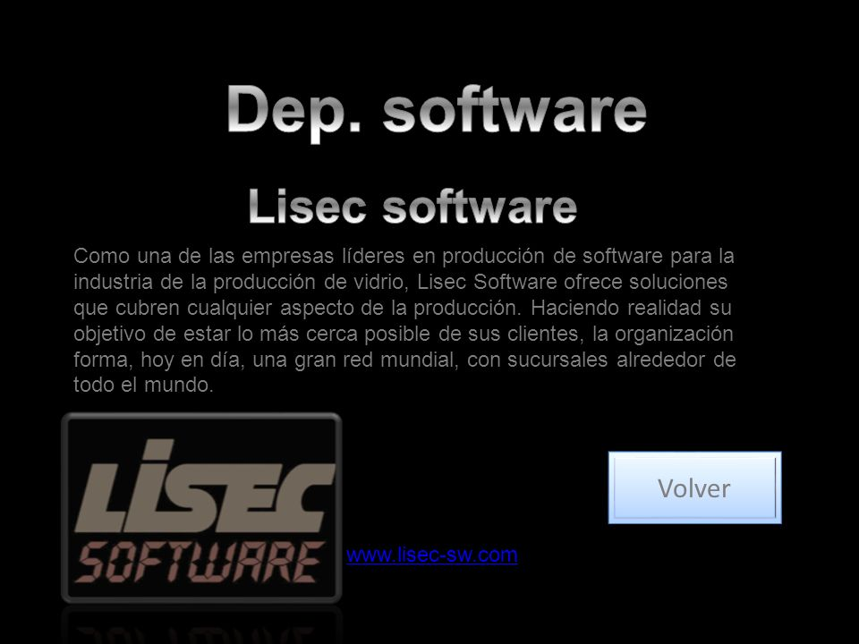 Dep. software Lisec software Volver