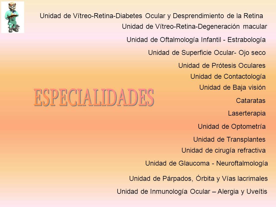 Unidad de Vítreo-Retina-Diabetes Ocular y Desprendimiento de la Retina