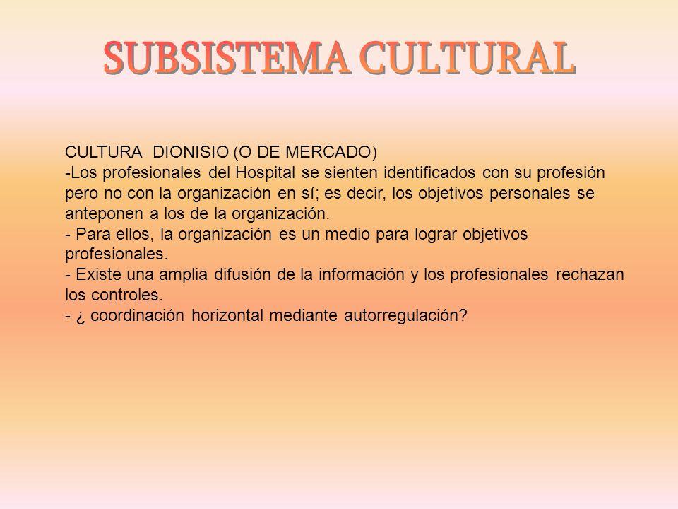 SUBSISTEMA CULTURAL CULTURA DIONISIO (O DE MERCADO)