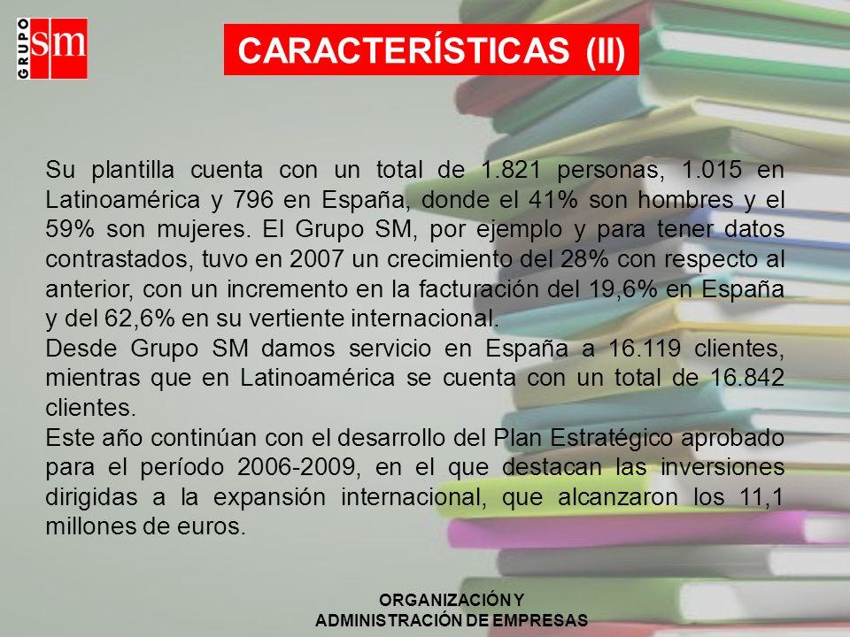 CARACTERÍSTICAS (II)