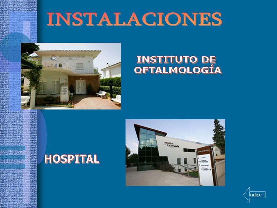 INSTALACIONES INSTITUTO DE OFTALMOLOGÍA HOSPITAL Índice