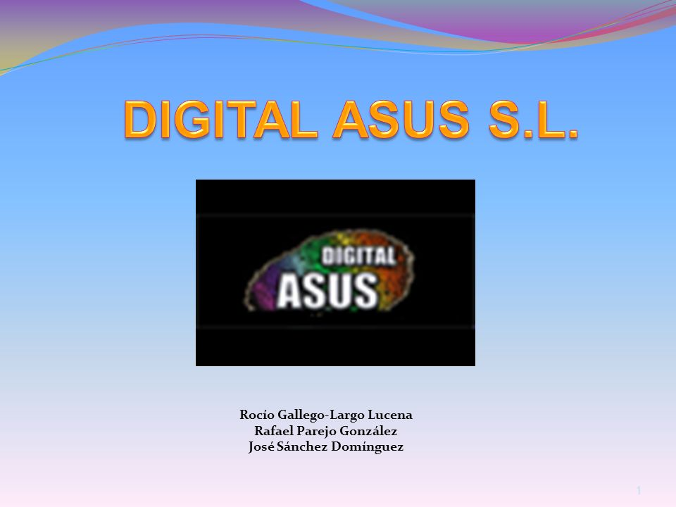 DIGITAL ASUS S.L. Rocío Gallego-Largo Lucena Rafael Parejo González