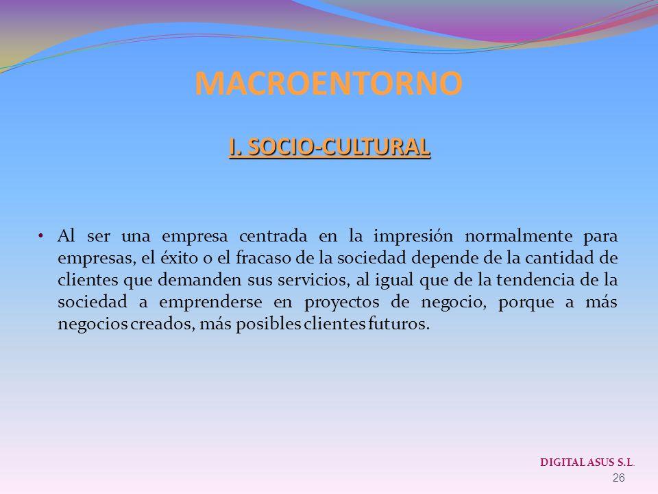MACROENTORNO I. SOCIO-CULTURAL