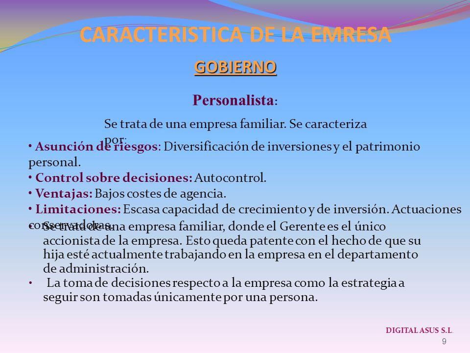 CARACTERISTICA DE LA EMRESA