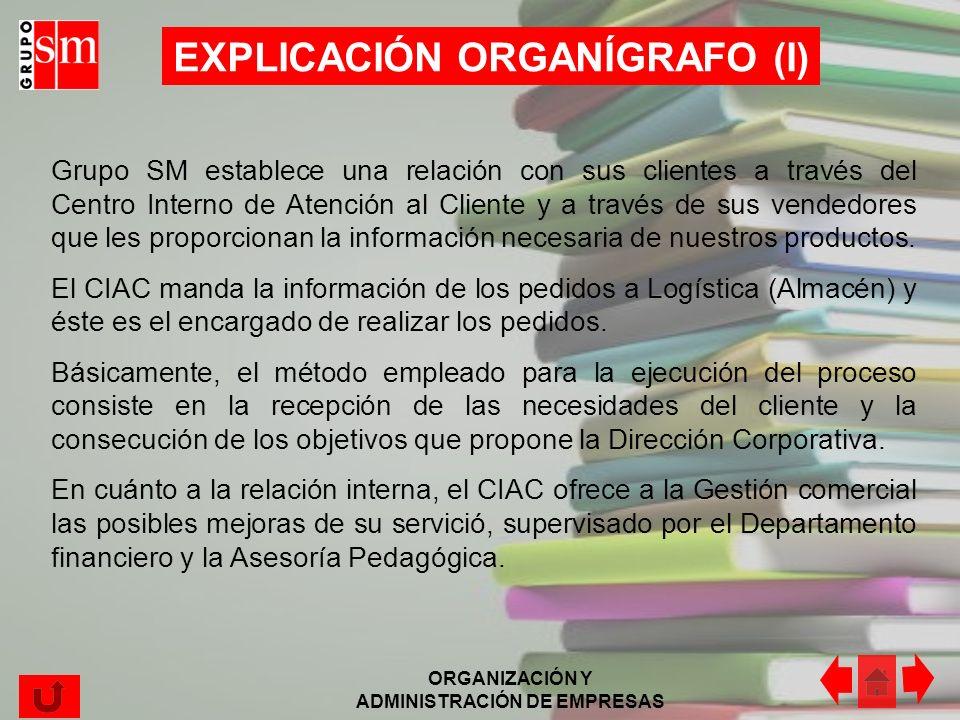 EXPLICACIÓN ORGANÍGRAFO (I)