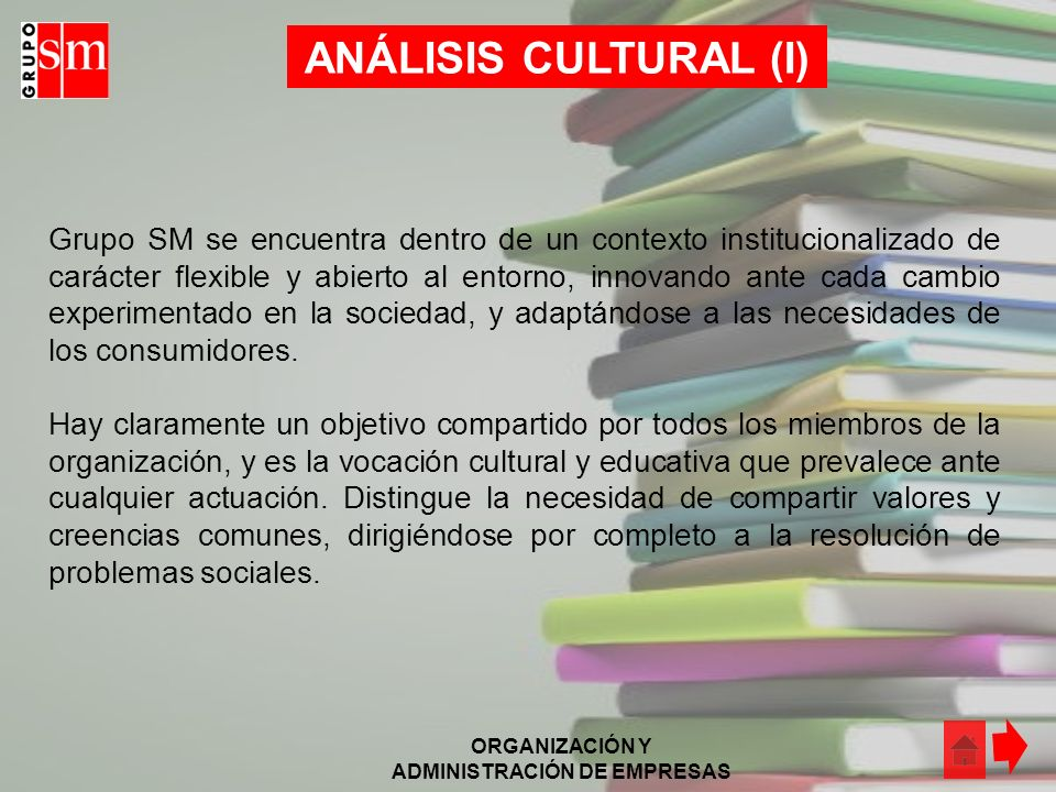 ANÁLISIS CULTURAL (I)