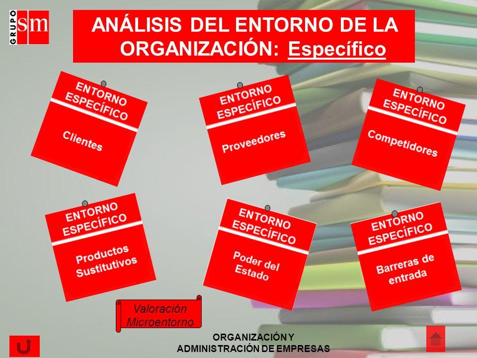 ANÁLISIS DEL ENTORNO DE LA ORGANIZACIÓN: Específico