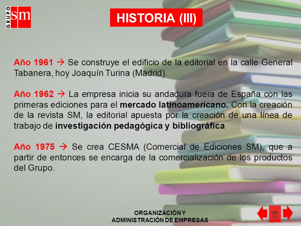 HISTORIA (III)Año 1961  Se construye el edificio de la editorial en la calle General Tabanera, hoy Joaquín Turina (Madrid).