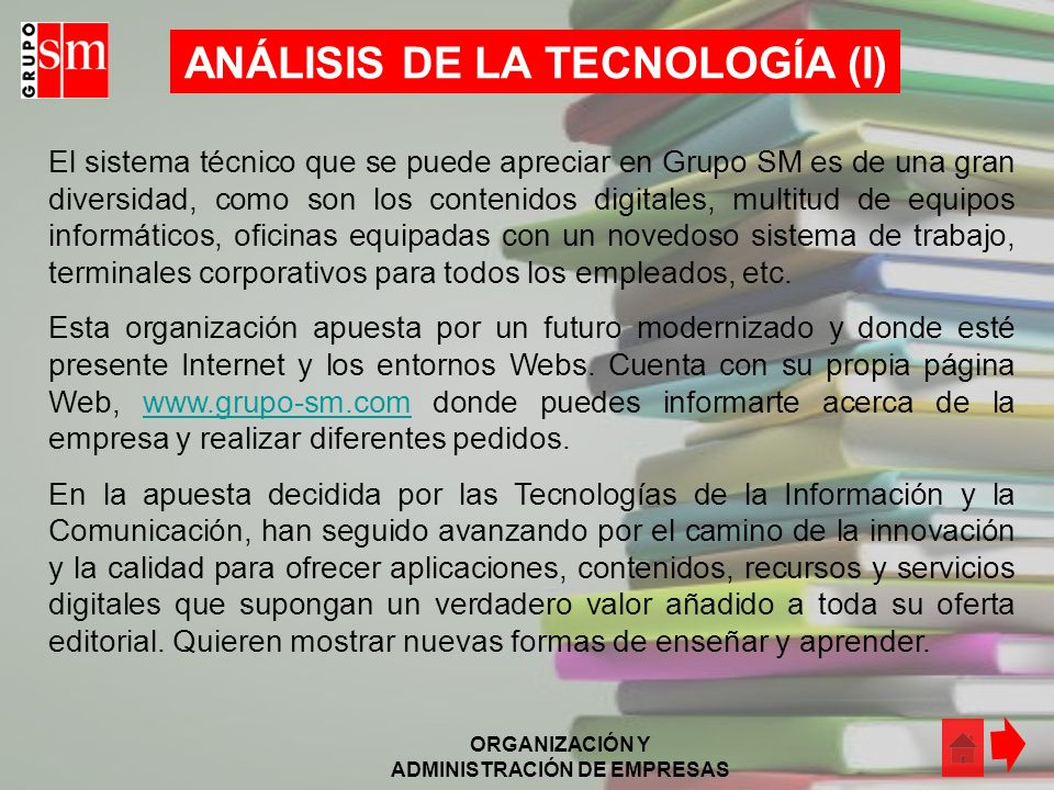 ANÁLISIS DE LA TECNOLOGÍA (I)
