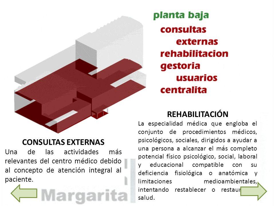 REHABILITACIÓN CONSULTAS EXTERNAS