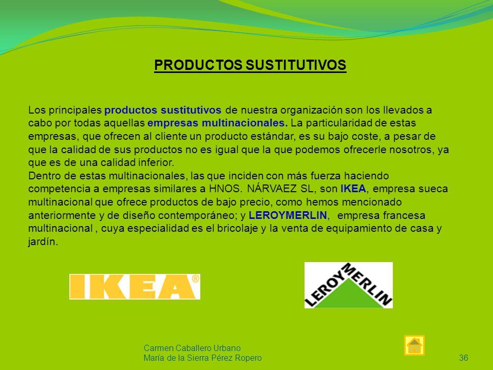 PRODUCTOS SUSTITUTIVOS
