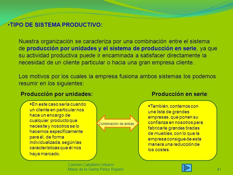 TIPO DE SISTEMA PRODUCTIVO: