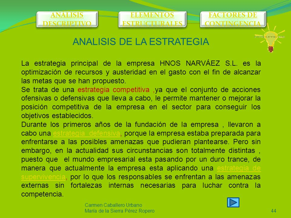 ELEMENTOS ESTRUCTURALES FACTORES DE CONTINGENCIA