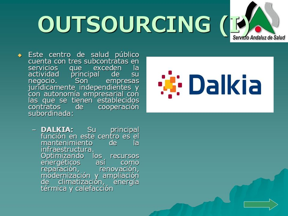 OUTSOURCING (I)