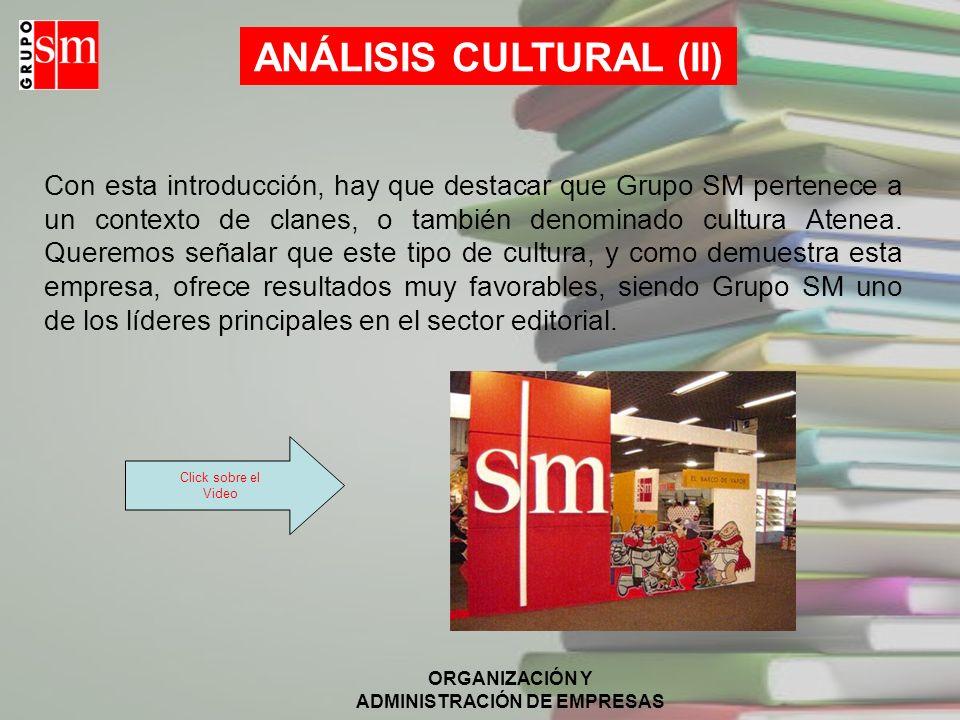 ANÁLISIS CULTURAL (II)