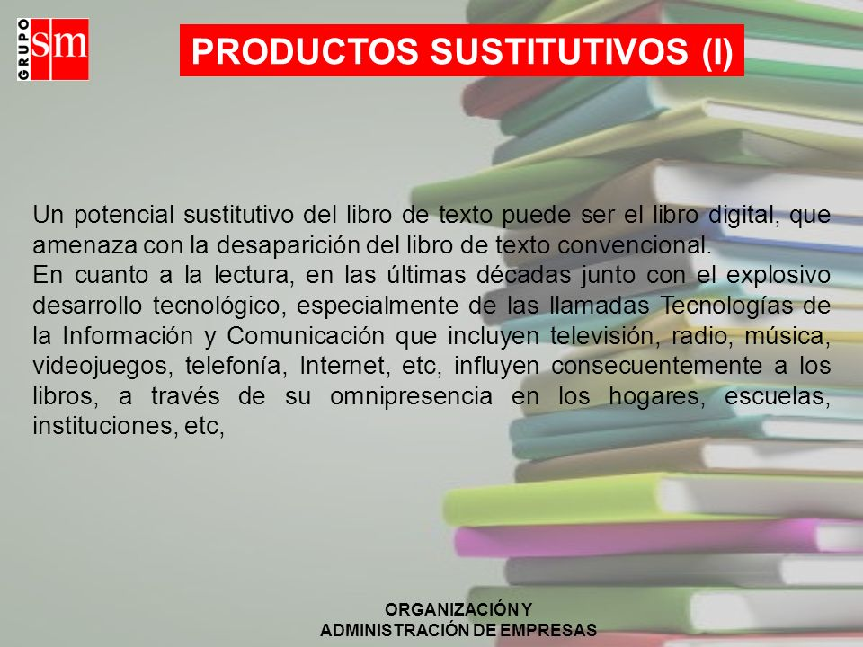 PRODUCTOS SUSTITUTIVOS (I)