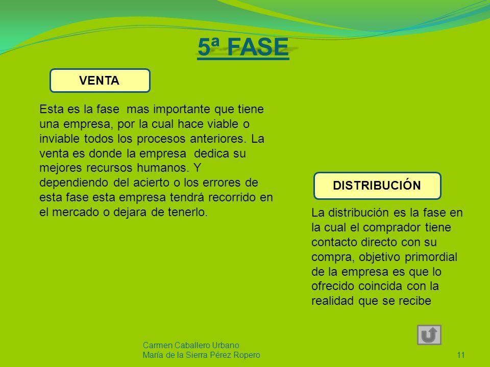 5ª FASE VENTA.