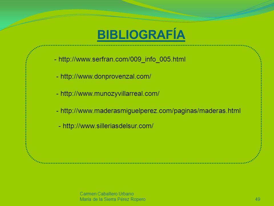 BIBLIOGRAFÍA http://www.serfran.com/009_info_005.html