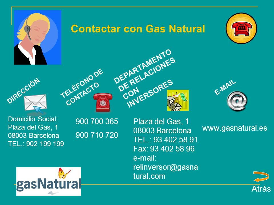 Contactar con Gas Natural