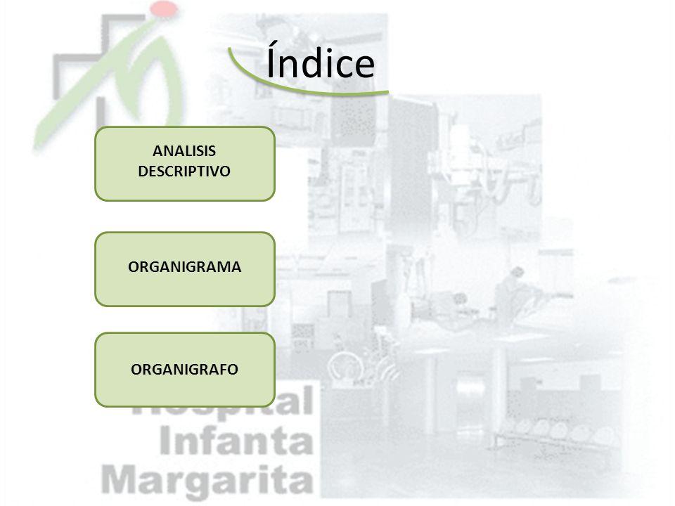 Índice ANALISIS DESCRIPTIVO ORGANIGRAMA ORGANIGRAFO