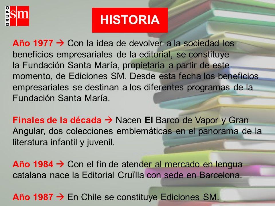 Año 1987  En Chile se constituye Ediciones SM.