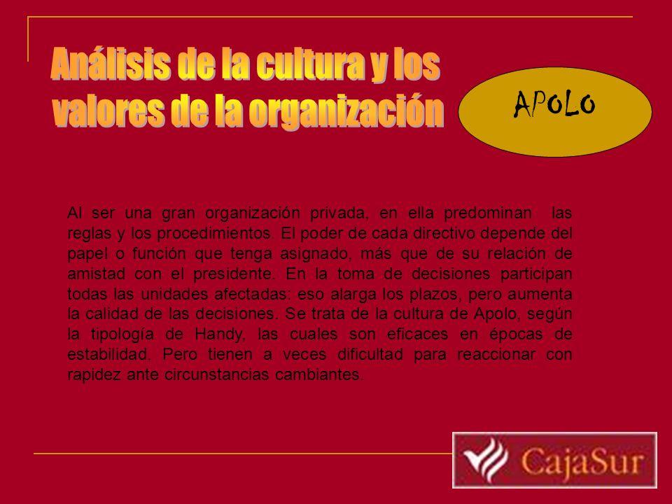 APOLO Análisis de la cultura y los valores de la organización