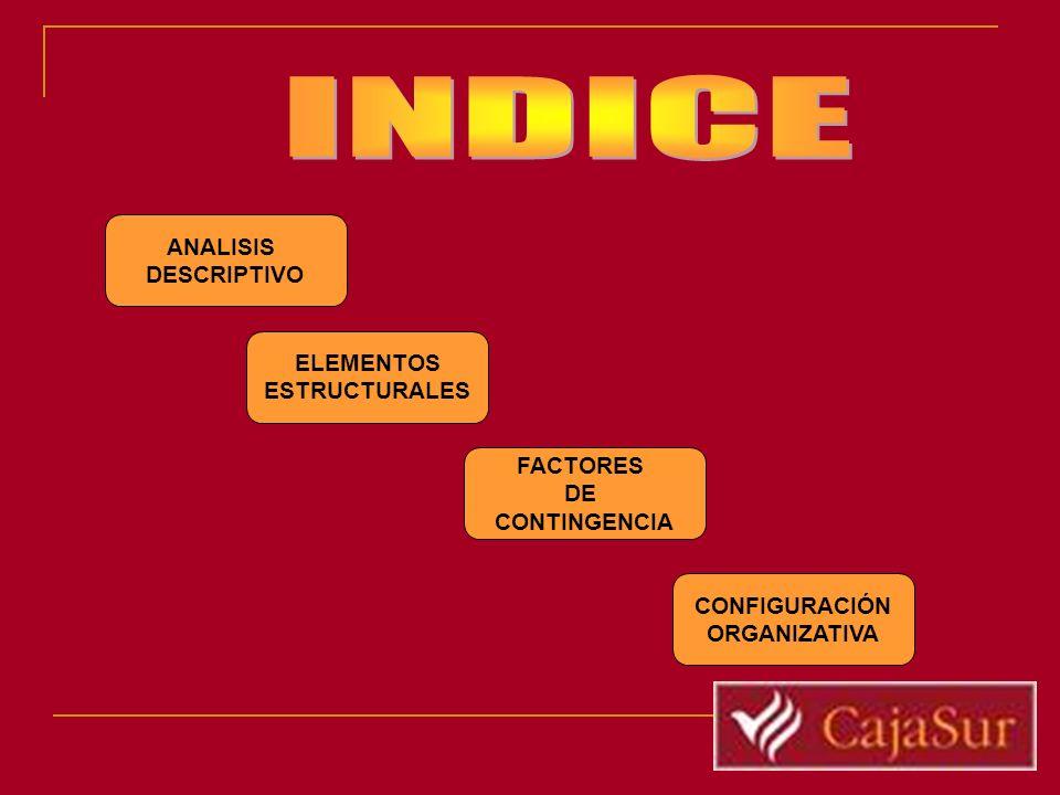 INDICE ANALISIS DESCRIPTIVO ELEMENTOS ESTRUCTURALES FACTORES DE