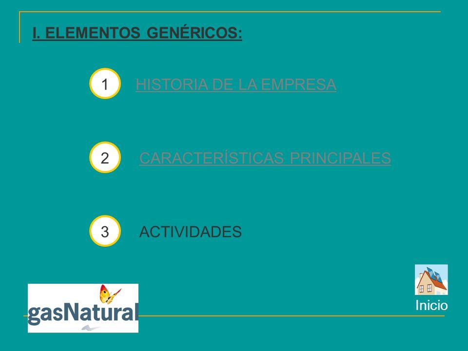 I. ELEMENTOS GENÉRICOS: