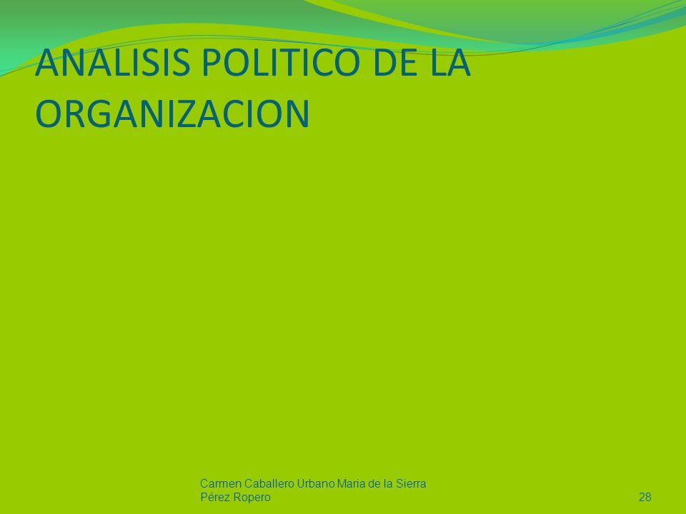 ANALISIS POLITICO DE LA ORGANIZACION