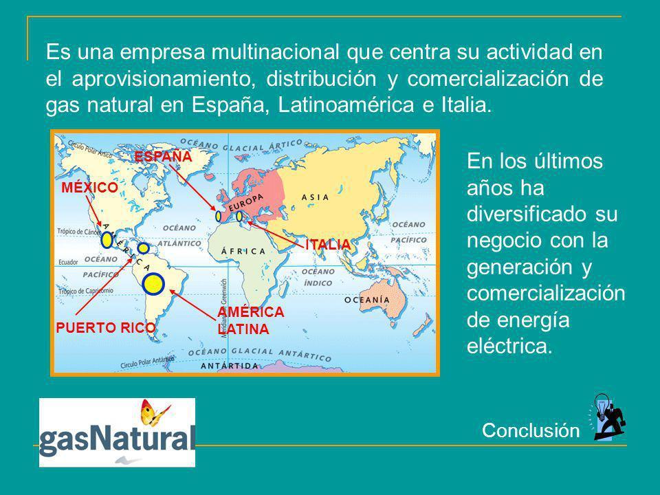 Es una empresa multinacional que centra su actividad en el aprovisionamiento, distribución y comercialización de gas natural en España, Latinoamérica e Italia.
