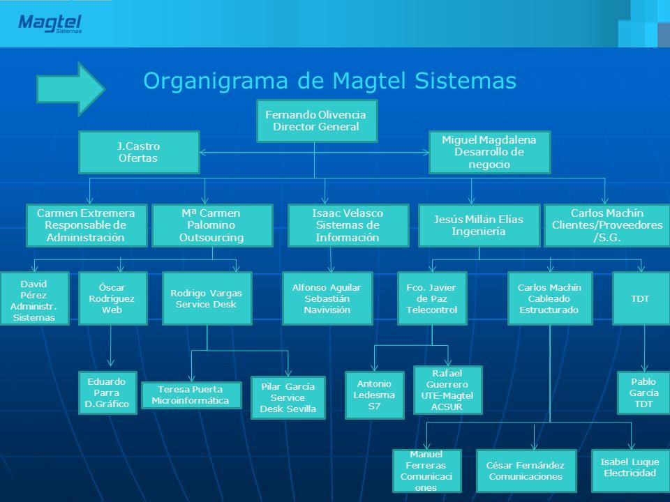 Organigrama de Magtel Sistemas