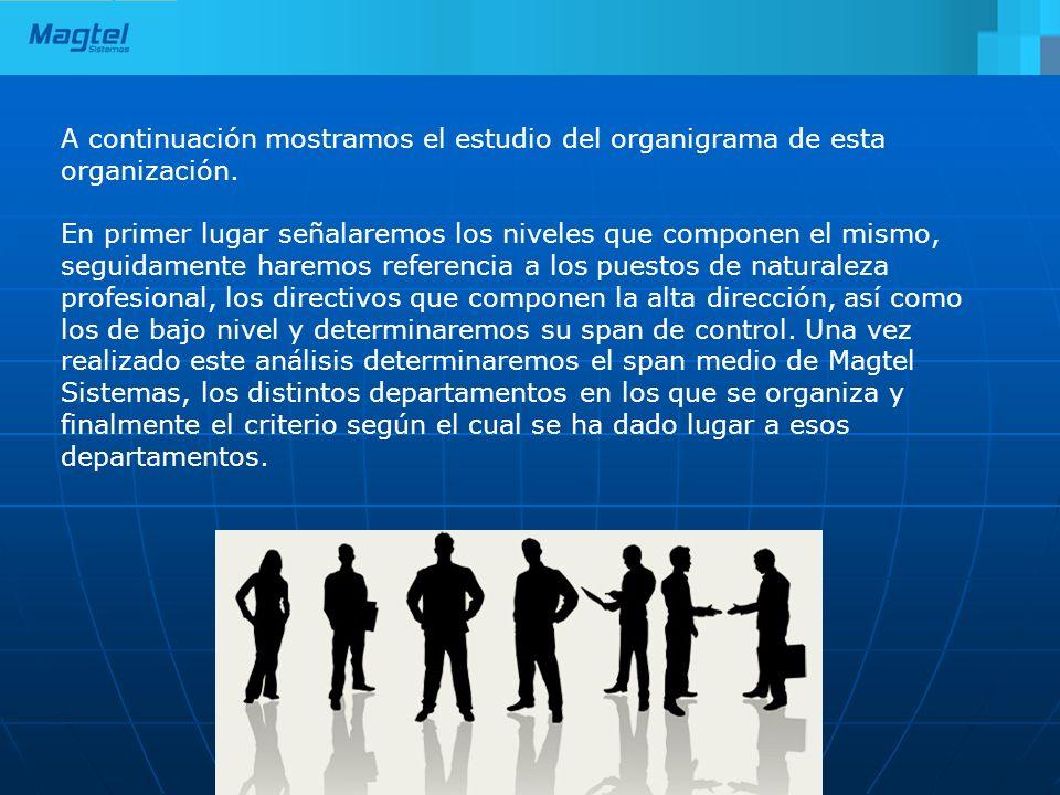 A continuación mostramos el estudio del organigrama de esta organización.