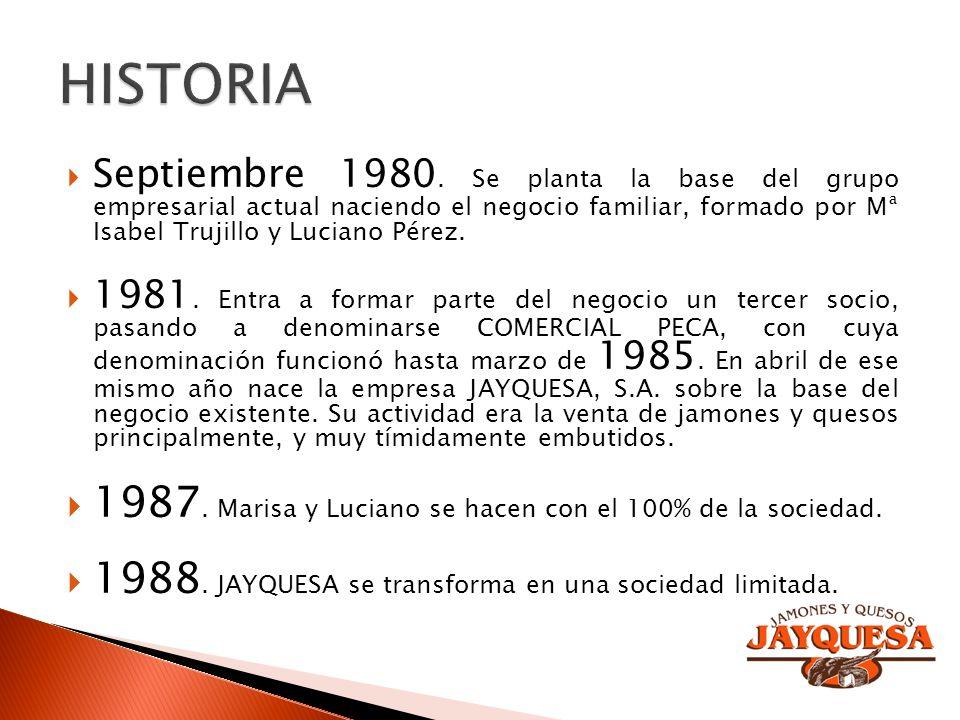 HISTORIA 1987. Marisa y Luciano se hacen con el 100% de la sociedad.