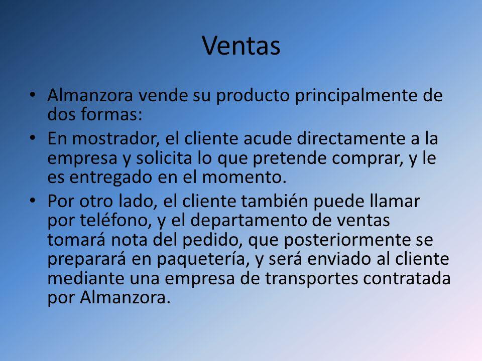 Ventas Almanzora vende su producto principalmente de dos formas: