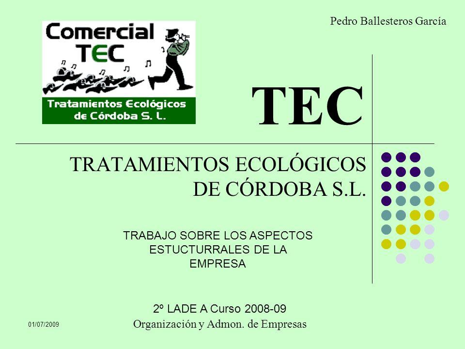 TRATAMIENTOS ECOLÓGICOS DE CÓRDOBA S.L.