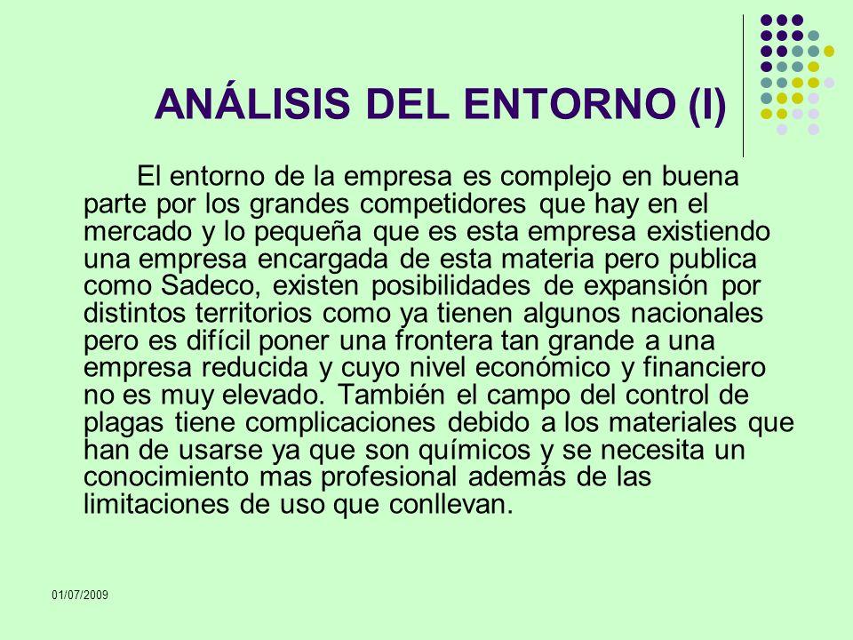 ANÁLISIS DEL ENTORNO (I)