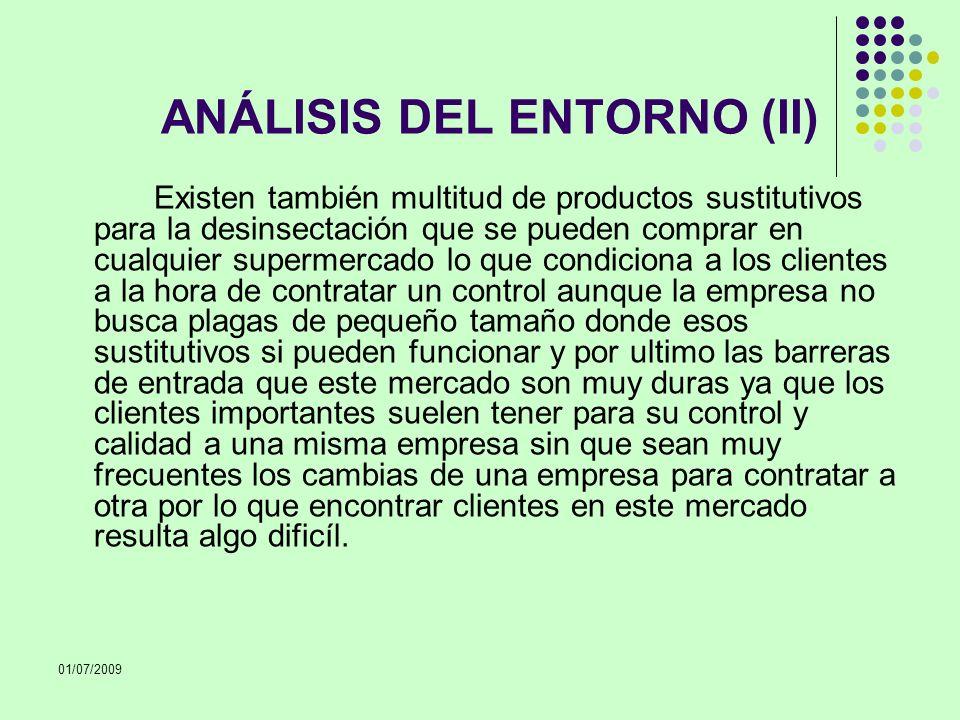 ANÁLISIS DEL ENTORNO (II)