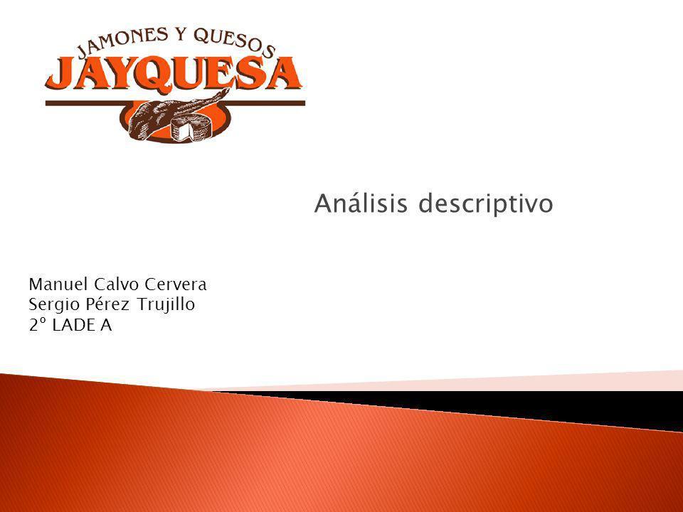 Análisis descriptivo Manuel Calvo Cervera Sergio Pérez Trujillo